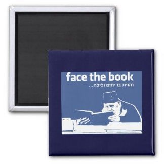 Face the Book 2 Inch Square Magnet