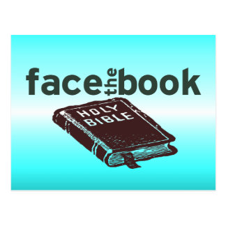Face The Book Post Card