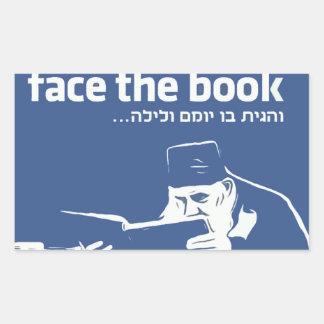 Face the Book Rectangular Sticker