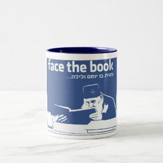 Face the Book Two-Tone Coffee Mug