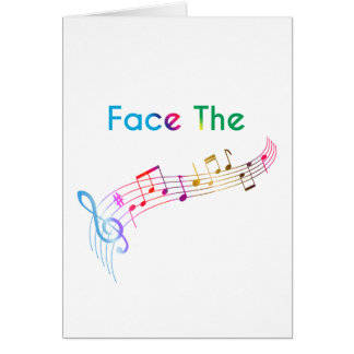 Face The Music Card