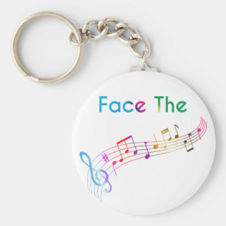 Face The Music Keychain