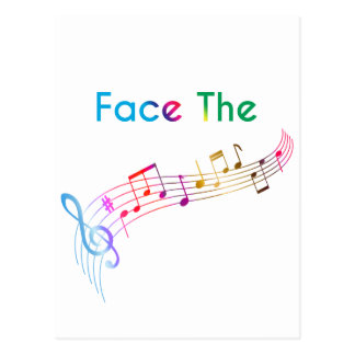 Face The Music Postcard