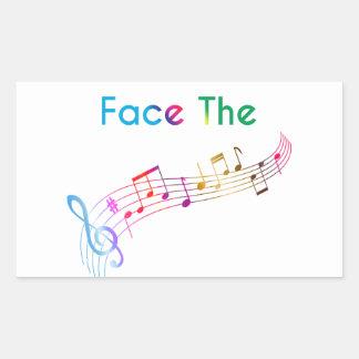 Face The Music Rectangular Sticker