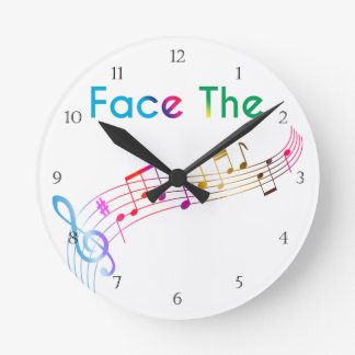 Face The Music Round Clock
