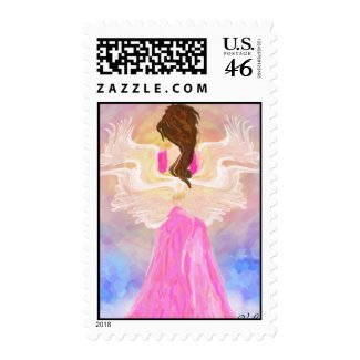 Face The Sun Angel Postage stamp