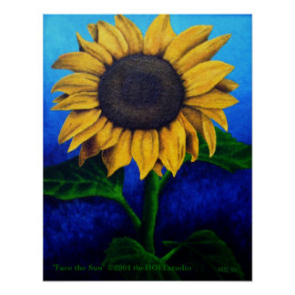 Face the Sun on Canvas Poster