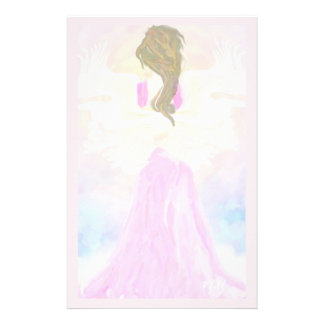Face The Sun Pink Angel Customized Stationery