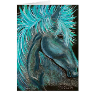face the wind greeting card