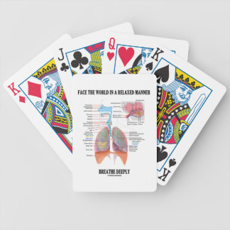 Face The World In A Relaxed Manner Breathe Deeply Bicycle Playing Cards