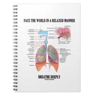 Face The World In A Relaxed Manner Breathe Deeply Notebook