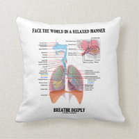 Face The World In A Relaxed Manner Breathe Deeply Throw Pillow
