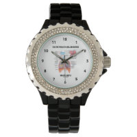 Face The World In A Relaxed Manner Breathe Deeply Wristwatches