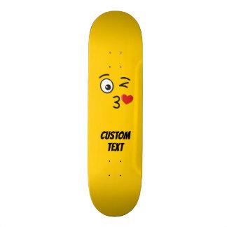 Face Throwing a Kiss Skateboard