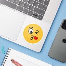 Face Throwing a Kiss Sticker
