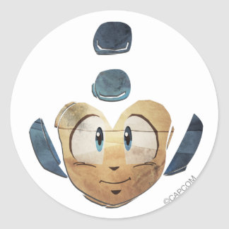 Face Time Classic Round Sticker