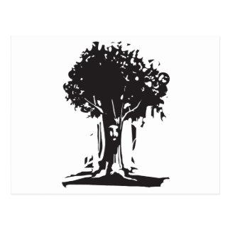 Face Tree Spirit Postcard
