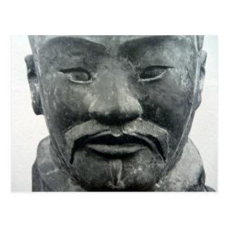 face warrior xi'an postcard
