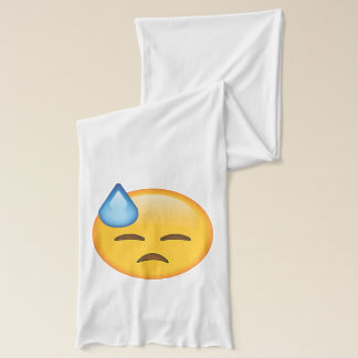 Face with Cold Sweat - Emoji Scarf