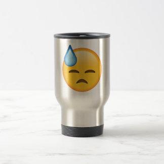 Face with Cold Sweat - Emoji Travel Mug