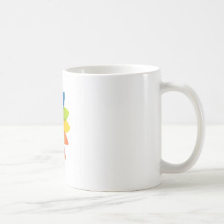 Face with colorful leaves coffee mug