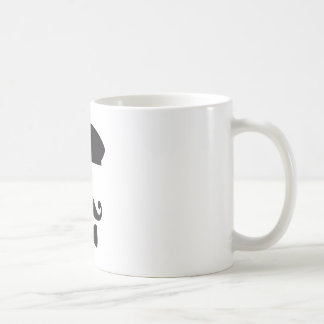 Face with french hat, mustache and tie coffee mug