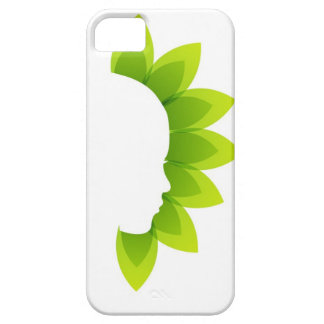 Face with green leaves iPhone SE/5/5s case