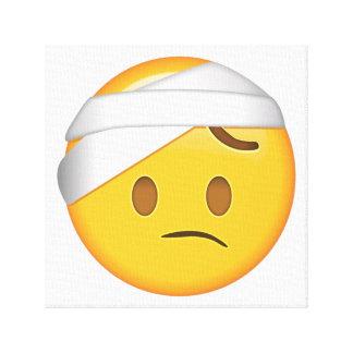 Face With Head-Bandage - Emoji Canvas Print