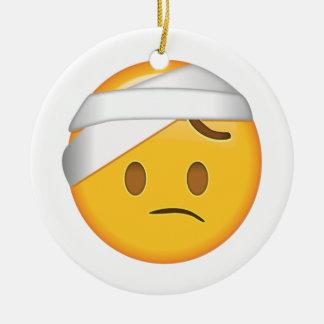 Face With Head-Bandage - Emoji Ceramic Ornament