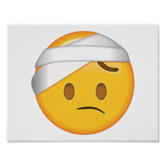 Face With Head-Bandage - Emoji Poster