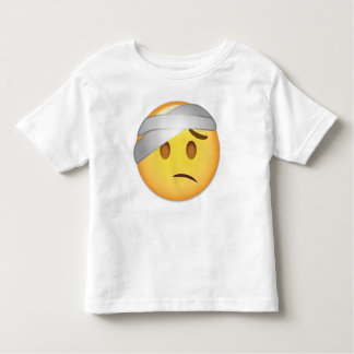 Face With Head-Bandage Emoji Toddler T-shirt