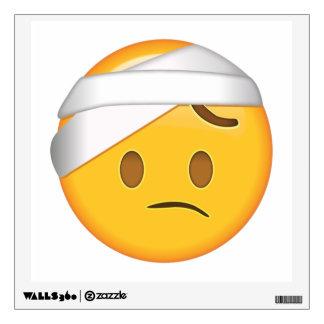 Face With Head-Bandage - Emoji Wall Sticker