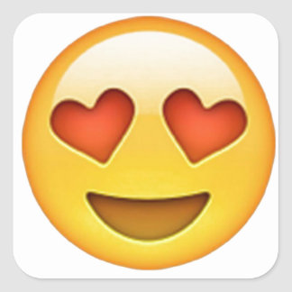 Face with heart shaped eyes emoji sticker