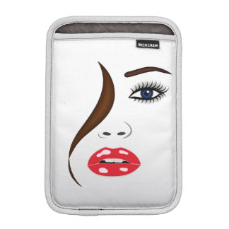Face with Lipstick in the Mirror iPad Mini Sleeve