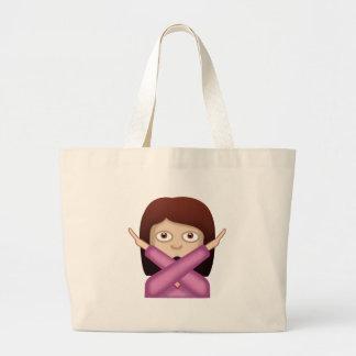 Face With No Good Gesture Emoji Canvas Bag