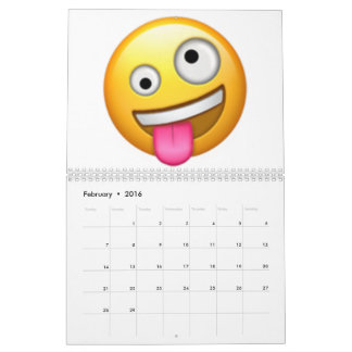 Face With One Large and One Small Eye - Emoji Calendar