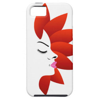 Face with red leaves iPhone SE/5/5s case