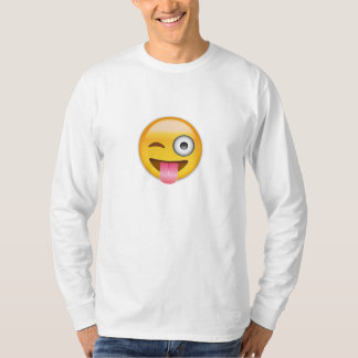 Face With Stuck Out Tongue And Winking Eye Emoji T-Shirt