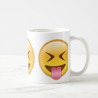 Face With Stuck Out Tongue & Tightly Closed Eyes Coffee Mug
