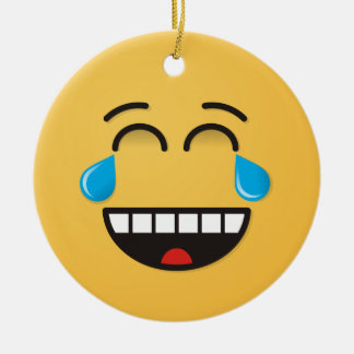 Face With Tears of Joy Ceramic Ornament