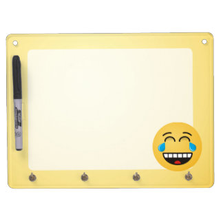Face With Tears of Joy Dry Erase Board With Keychain Holder