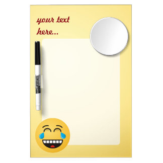 Face With Tears of Joy Dry Erase Board With Mirror