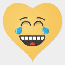 Face With Tears of Joy Heart Sticker