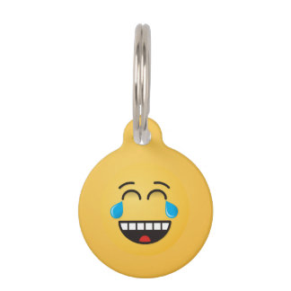 Face With Tears of Joy Pet Tag