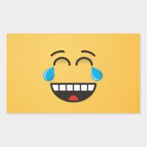 Face With Tears of Joy Rectangular Sticker