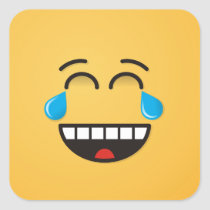 Face With Tears of Joy Square Sticker