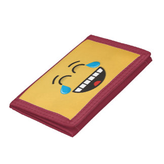Face With Tears of Joy Tri-fold Wallets