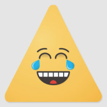 Face With Tears of Joy Triangle Sticker