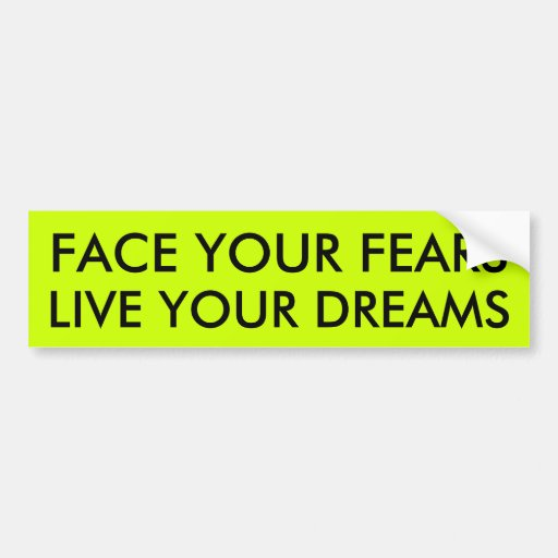 FACE YOUR FEARS BUMPER STICKERS