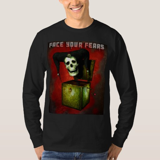 Face Your Fears Skull in a Box T-shirt